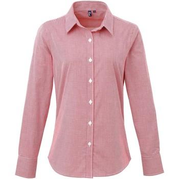 vaatteet Naiset Paitapusero / Kauluspaita Premier PR320 Red/White