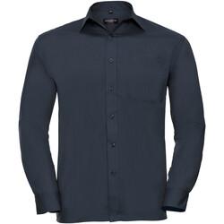 vaatteet Miehet Pitkähihainen paitapusero Russell 934M French Navy