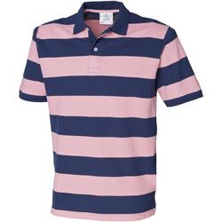 vaatteet Miehet Lyhythihainen poolopaita Front Row FR210 Navy/Pink