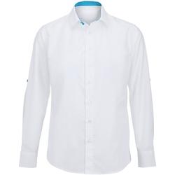 vaatteet Miehet Pitkähihainen paitapusero Alexandra Hospitality White/ Peacock