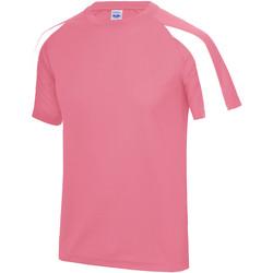 vaatteet Miehet Lyhythihainen t-paita Just Cool JC003 Electric Pink/Arctic White