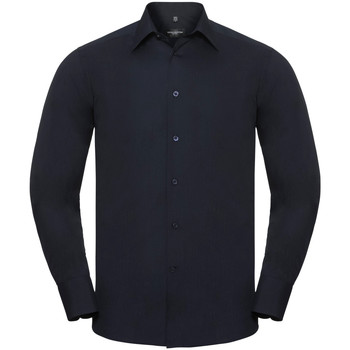 vaatteet Miehet Pitkähihainen paitapusero Russell 924M French Navy