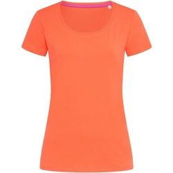 vaatteet Naiset Lyhythihainen t-paita Stedman Stars  Salmon Pink