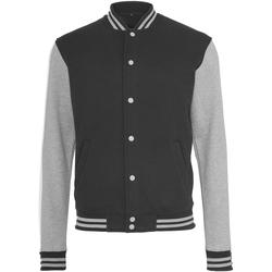 vaatteet Naiset Pusakka Build Your Brand BY027 Black/Heather Grey