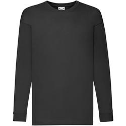 vaatteet Lapset T-paidat pitkillä hihoilla Fruit Of The Loom 61007 Black