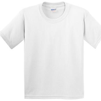 vaatteet Lapset Lyhythihainen t-paita Gildan 5000B White