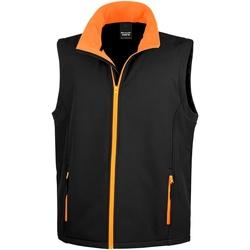 vaatteet Miehet Neuleet / Villatakit Result R232M Black / Orange