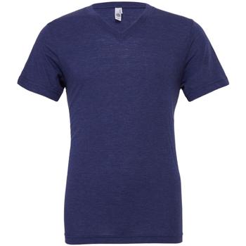 vaatteet Miehet Lyhythihainen t-paita Bella + Canvas CA3415 Navy Triblend
