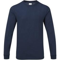 vaatteet Miehet T-paidat pitkillä hihoilla Gildan H400 Sport Dark Navy