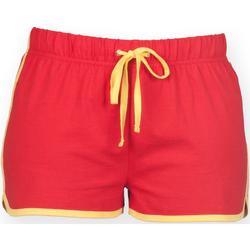 vaatteet Naiset Shortsit / Bermuda-shortsit Skinni Fit SK069 Red/ Yellow