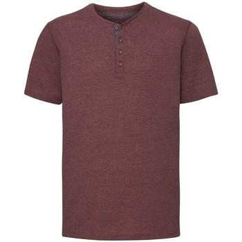 vaatteet Miehet Lyhythihainen t-paita Russell Henley Maroon Marl