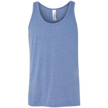 vaatteet Naiset Hihattomat paidat / Hihattomat t-paidat Bella + Canvas CA3480 Blue Triblend