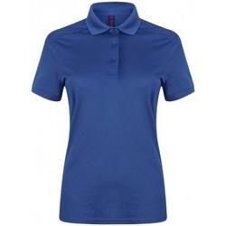 vaatteet Naiset Lyhythihainen poolopaita Henbury HB461 Royal