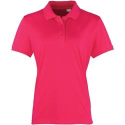 vaatteet Naiset Lyhythihainen poolopaita Premier PR616 Hot Pink