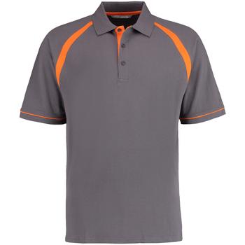 vaatteet Miehet Lyhythihainen poolopaita Kustom Kit KK615 Charcoal/Orange