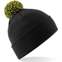 Asusteet / tarvikkeet Tytöt Pipot Beechfield Snowstar Black/Lime Green