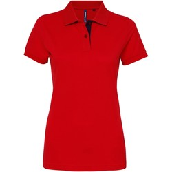 vaatteet Naiset Lyhythihainen poolopaita Asquith & Fox Contrast Red/ Navy