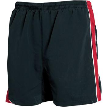 vaatteet Miehet Shortsit / Bermuda-shortsit Tombo Teamsport TL081 Black/Red/ White Piping