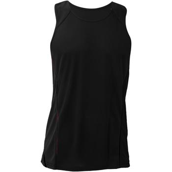 vaatteet Miehet Hihattomat paidat / Hihattomat t-paidat Gamegear KK973 Black/Black