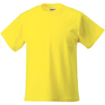 vaatteet Lapset Lyhythihainen t-paita Jerzees Schoolgear ZT180B Yellow