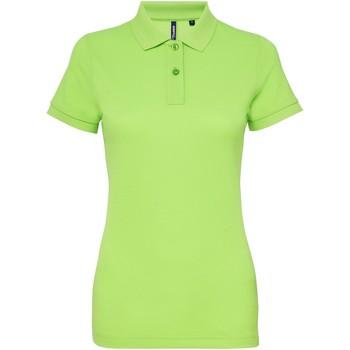 vaatteet Naiset Lyhythihainen poolopaita Asquith & Fox AQ025 Neon Green