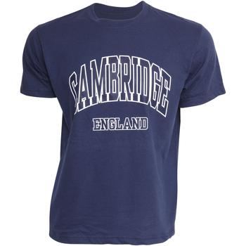 vaatteet Miehet Lyhythihainen t-paita Cambridge University  Navy