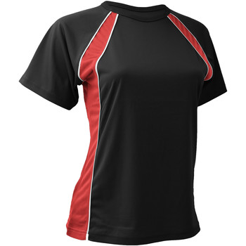 vaatteet Naiset Lyhythihainen t-paita Finden & Hales LV251 Black/Red/White