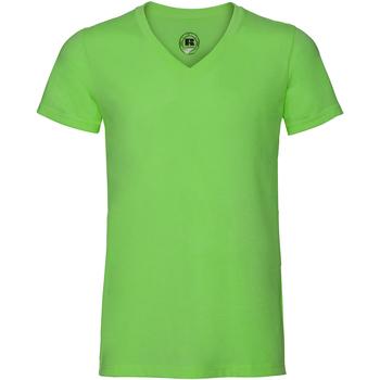 vaatteet Miehet Lyhythihainen t-paita Russell J166M Green Marl