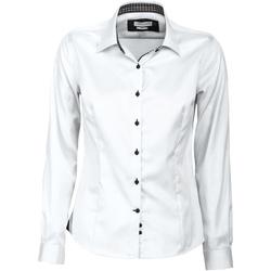 vaatteet Naiset Paitapusero / Kauluspaita J Harvest & Frost JF006 White/ Black