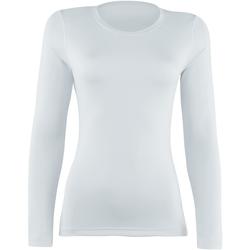 vaatteet Naiset T-paidat pitkillä hihoilla Rhino RH003 White