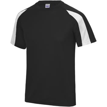 vaatteet Miehet Lyhythihainen t-paita Just Cool JC003 Jet Black/Arctic White