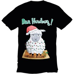 vaatteet Miehet Lyhythihainen t-paita Christmas Shop 178642 Black Bah Humbug