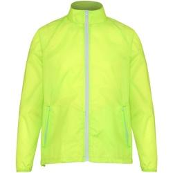 vaatteet Miehet Tuulitakit 2786  Yellow/ White