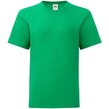 vaatteet Pojat Lyhythihainen t-paita Fruit Of The Loom 61023 Kelly Green