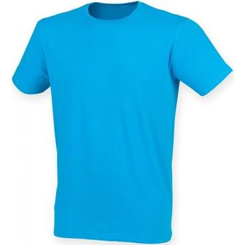 vaatteet Miehet Lyhythihainen t-paita Skinni Fit SF121 Sapphire