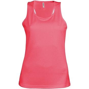 vaatteet Naiset Hihattomat paidat / Hihattomat t-paidat Kariban Proact Proact Fluorescent Pink