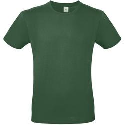 vaatteet Miehet Lyhythihainen t-paita B And C TU01T Bottle Green