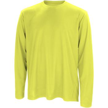 vaatteet Miehet T-paidat pitkillä hihoilla Spiro S254M Lime Green