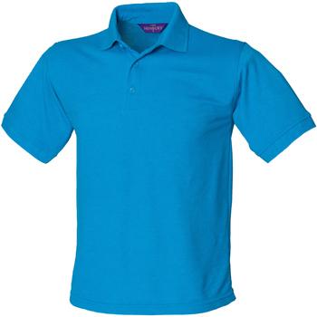 vaatteet Miehet Lyhythihainen poolopaita Henbury HB400 Sapphire Blue