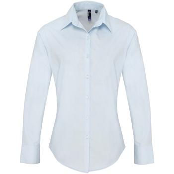 vaatteet Naiset Paitapusero / Kauluspaita Premier PR307 Light Blue