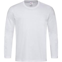 vaatteet Miehet T-paidat pitkillä hihoilla Stedman  White