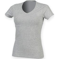 vaatteet Naiset Lyhythihainen t-paita Skinni Fit SK122 Heather Grey