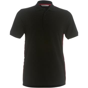 vaatteet Miehet Lyhythihainen poolopaita Kustom Kit KK603 Black/ Red