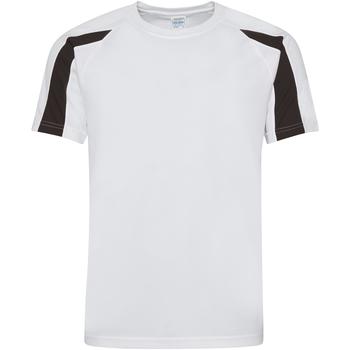 vaatteet Miehet Lyhythihainen t-paita Just Cool JC003 Arctic White/Jet Black