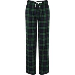 vaatteet Naiset pyjamat / yöpaidat Skinni Fit Tartan Navy/Green Check