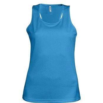 vaatteet Naiset Hihattomat paidat / Hihattomat t-paidat Kariban Proact Proact Aqua Blue