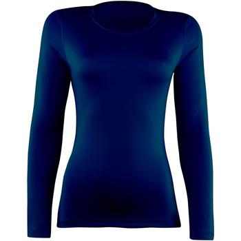 vaatteet Naiset T-paidat pitkillä hihoilla Rhino RH003 Navy
