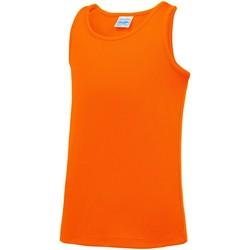 vaatteet Lapset Hihattomat paidat / Hihattomat t-paidat Awdis JC07J Electric Orange