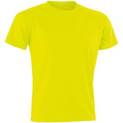 vaatteet Miehet Lyhythihainen t-paita Spiro Aircool Flo Yellow