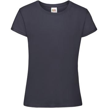 vaatteet Tytöt Lyhythihainen t-paita Fruit Of The Loom 61017 Navy Blue